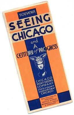 1933-34 SEEING CHICAGO and CENTURY OF PROGRESS EXPO sightseeing brochure