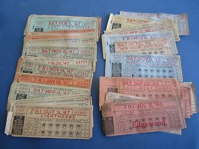 Lot of 100+ Old 1940's - Connecticut Co. NEW HAVEN - Train / Trolley - TICKETS
