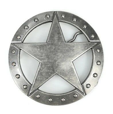 Womens Mens Silver Alloy Texas Ranger Sheriff Star Western Cowboy Belt Buckle