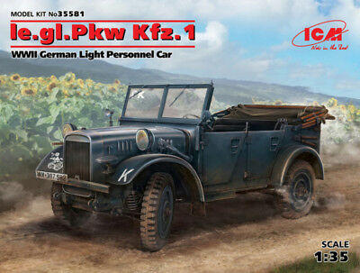 ICM 35581 WWII German le.gl.PKW Kfz.1 in 1:35 (100% New Molds)