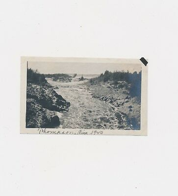 1920 Thompson Minnesota Dam + River Landscape Captioned