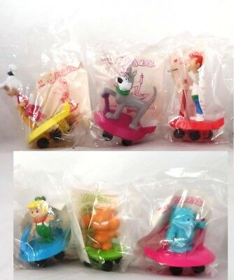 6 Pc 1990 Meet the Jetsons Cartoon Collectors Lot Wendy's Action Figurines