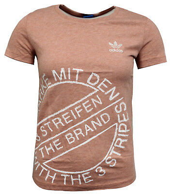 reputable site 1eb91 c4384 Adidas Originali Manica Corta T-Shirt da Donna Illustrato Top Rosa BS0758  RW16