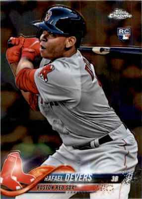 2018 Topps Chrome Rafael Devers Rookie Boston Red Sox #25