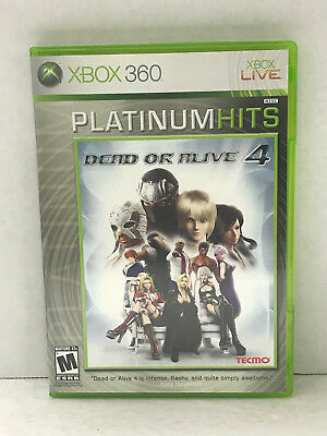 Dead Or Alive 4 ( Xbox 360 ) Game Complete With Manual