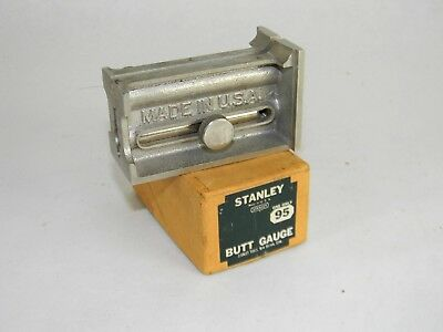 Mint New Old Stock Stanley # 95 Butt Gauge In Original Box T4490