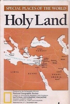national geographic map-DEC 1989-HOLY LAND.