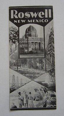 Old Vintage c.1930 - ROSWELL -  NEW MEXICO  - Travel Brochure
