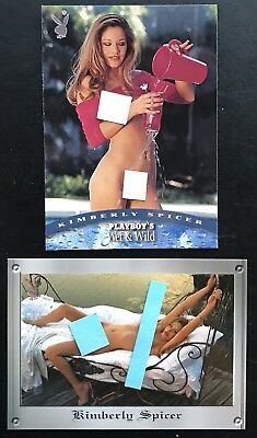Kimberly Spicer Playboy (2) Card Lot, Wet & Wild, Vault - Nice Lot