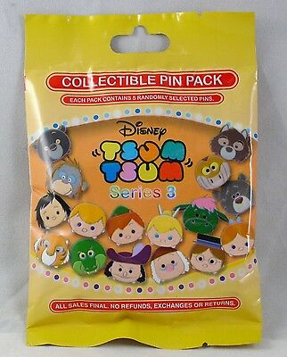 Disney Pin Collectible TSUM SERIES 3  Mystery Pack Randomly SEALED Set of 5 NEW