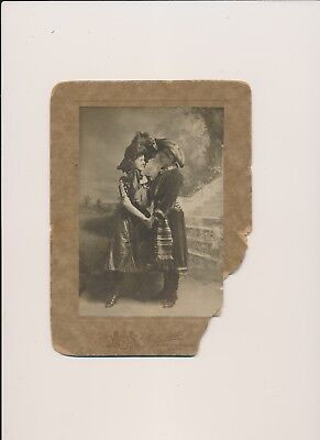 1900's Two Women Together in Lesbian Pose Close Affectionate Victorian Costume
