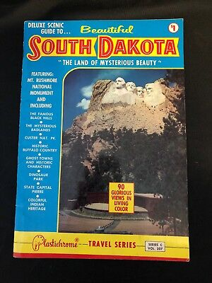 Vintage Deluxe Scenic Guide To Beautiful South Dakota Booklet