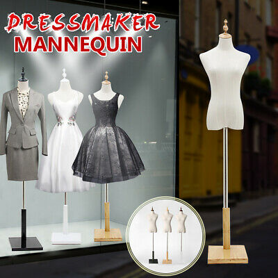 Fashion Female Mannequin Torso Clothing Clothes Dress Display & Square Stand US