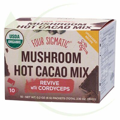 FOUR SIGMATIC - Mushroom Hot Cacao Mix Packets With Cordyceps 10x6g