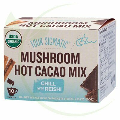 FOUR SIGMATIC - Mushroom Hot Cacao Mix Packets With Reishi 10x6g