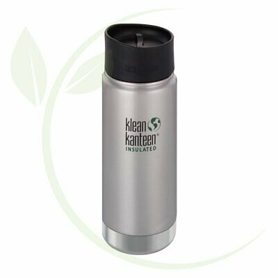 KLEAN KANTEEN - Wide Insulated Travel Mug Brushed Stainless - Caf   Cap 473ml