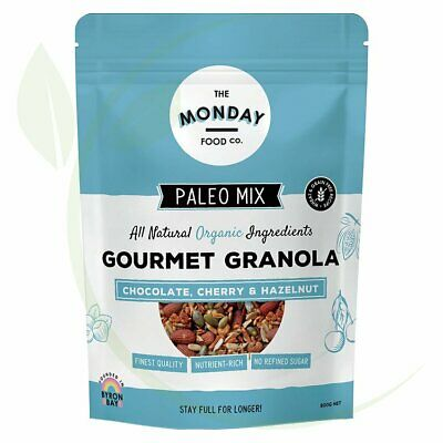 THE MONDAY FOOD CO. - Paleo Granola Chocolate, Cherry & Hazelnut 800g
