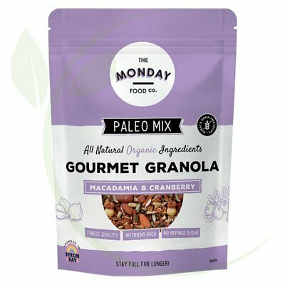 THE MONDAY FOOD CO. - Paleo Granola Macadamia & Cranberry 300g