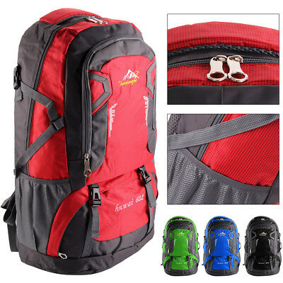 60L Waterproof Climbing Hiking Backpack Outdoor Travel Luggage Military Bag