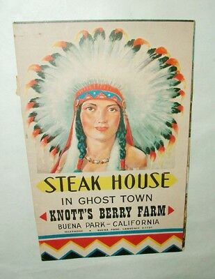 %  Vintage Knotts Berry Farm California Menu