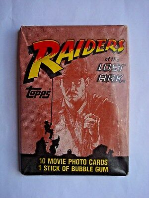 1981 Topps *raiders Of The Lost Ark* Sealed Wax Pack
