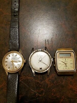 Vtg Watch Lot Caravelle Wittnauer Waltham