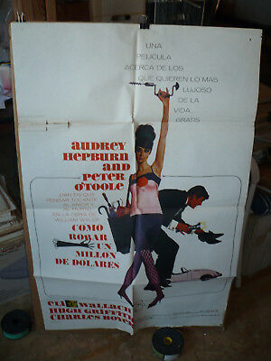 HOW TO STEAL A MILLION, 1966 Spanish 1-sh / movie poster (Audrey Hepburn)