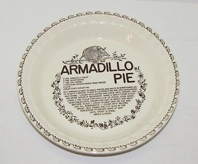 Vintage Armadillo Pie Plate Royal China Co Excellent Unused Condition