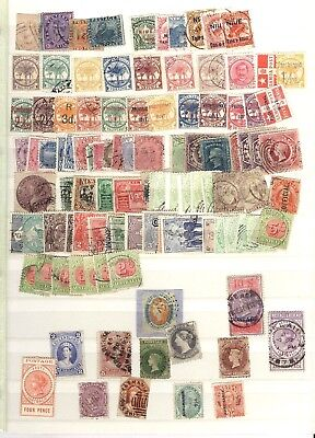 AUSTRALIA & STATES, SAMOA, FIJI &, Excellent Assortment of Stamps in a stock car