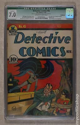 Detective Comics (1st Series) #45 1940 CGC 7.0 QUALIFIED 0754045012
