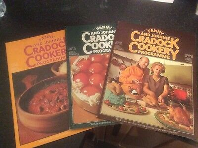 Fanny & Johnnie Craddock Cookery Programme Magazines  Numbers 1 To 3