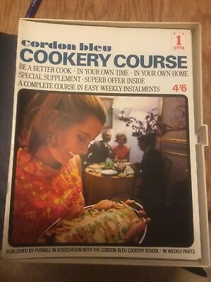 Authentic,Purnell's Cordon bleu Cookery Course Issue 1-18 very good  condition