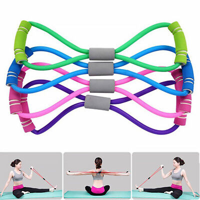 Exercise Training Bands Resistance Set Fitness Yoga Stretch Elastic Legs Therapy