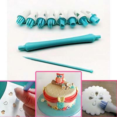 Plastic Flower Fondant Icing Cookie Cutter Mold Cake Decor Baking Tools JD