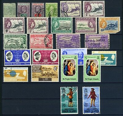 British Virgin Islands Small collection from the 1900's QV to QEII