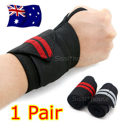 2PCS Weight Lifting Gym Muscle Training Wrist Support Straps Wraps Bodybuilding
