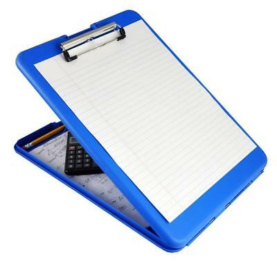 Plastic Storage Clipboard Blue Office School Supplies File Data Clipboards New