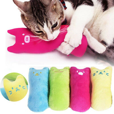 Interactive Funny Catnip Pets Cat Pillow Toy Teeth Grinding Claws Pet Fancy Toys