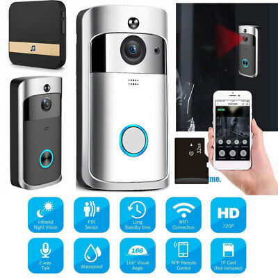 Smart Wireless WiFi Doorbell 1080P Camera IR Video Intercom Home Security APPlot