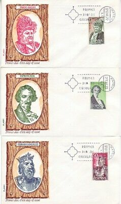 Spain - Special Events, People & Anniversaries (9no. Various FDC's) 1971-79
