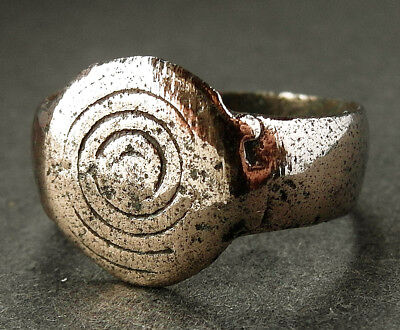 RARE GENUINE BRONZE-AGE DECORATED RING  -  Wearable - UK find