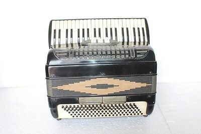 Accordion Vintage 120 Bass Black Fisarmonica Akkordeon + Case Antique BB-35