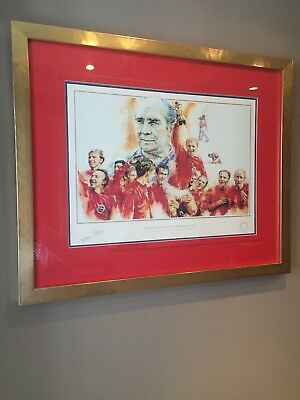 Signed England 1966 World Cup Winners Montage. Football Heritage limited Ed