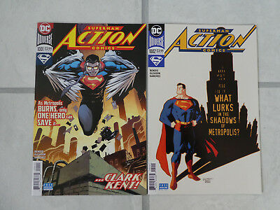 Action Comics issues # 1 & 2. Superman. Bendis. DC Comics. First Prints.