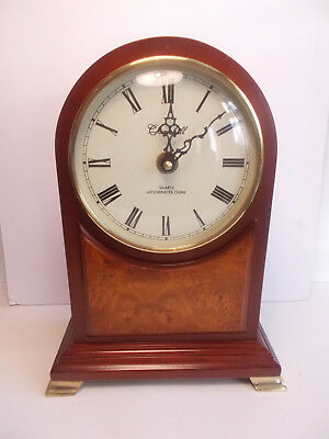 Churchill Edwardian Style Quartz Mantel Clock with Westminster Chime