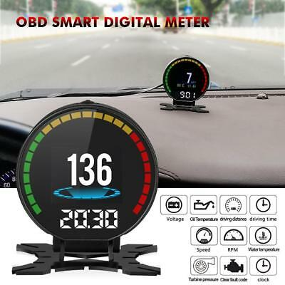 Car HUD Head Up Display OBD2 II Projector Speedometer Speed Warning System