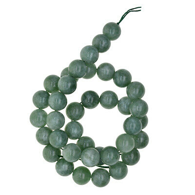 Natural Green Jade Gemstone Round Loose Spacer Beads for Jewelry Making LOT