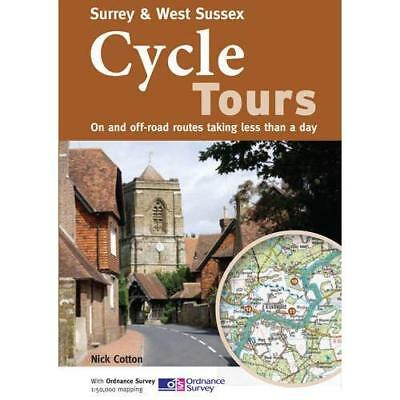 Surrey & West Sussex Cycle Tours: On and Off-road Route - Paperback NEW Cotton,