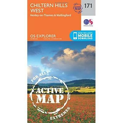 OS Explorer Map Active (171) Chiltern Hills West, Henle - Map NEW Ordnance Surve