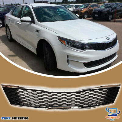 2016 2018 Kia Optima Front Grill Black Chrome Trim Grille Envios A